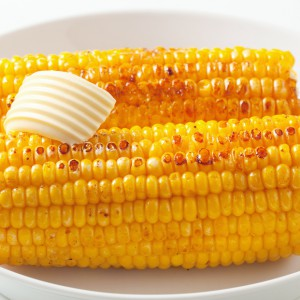 Roasted corn on the cob with butter
