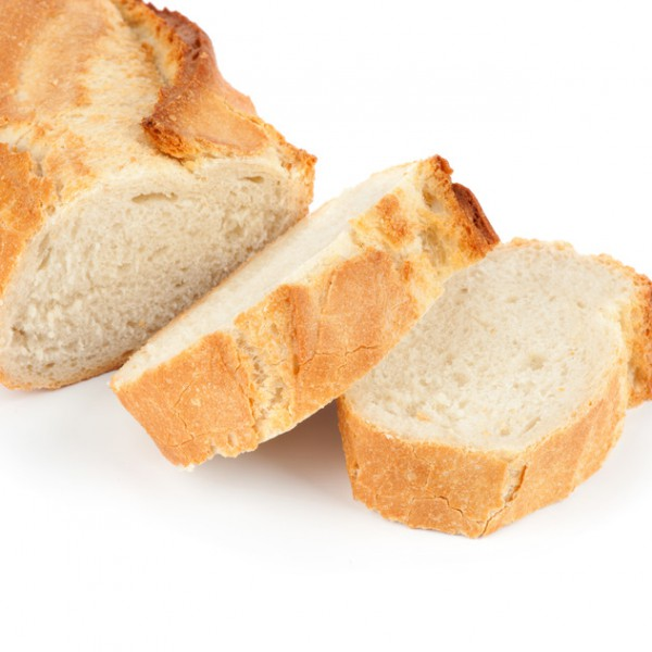 Baguette isolated on the white background